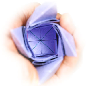 роза оригами из бумаги 47