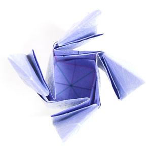 роза оригами из бумаги 50