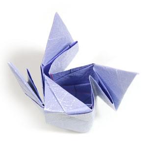 роза оригами из бумаги 51