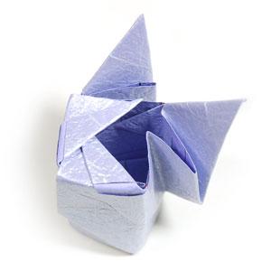 роза оригами из бумаги 52