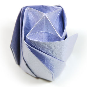 роза оригами из бумаги 57