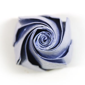 роза оригами из бумаги 62