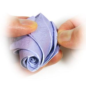 роза оригами из бумаги 63