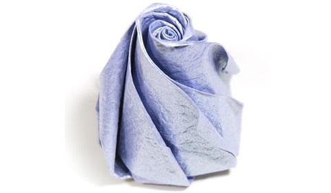 роза оригами из бумаги 65