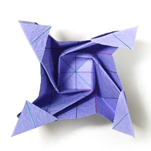 роза оригами из бумаги 69