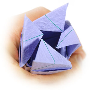 роза оригами из бумаги 72