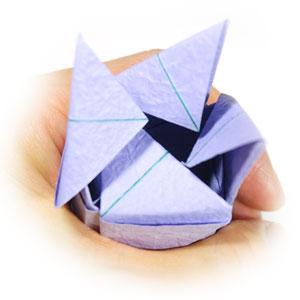 роза оригами из бумаги 73