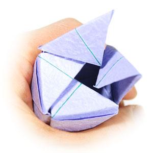 роза оригами из бумаги 74