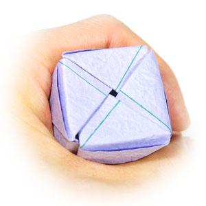 роза оригами из бумаги 76