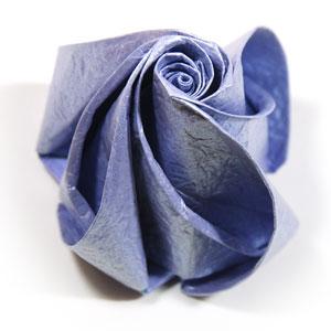 роза оригами из бумаги 80