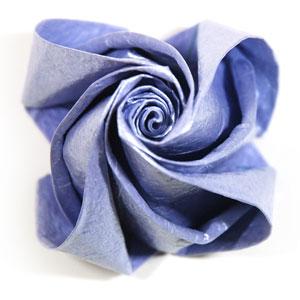 роза оригами из бумаги 81