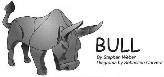 модель оригами быка,