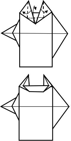 козёл оригами 8