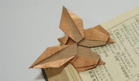 бабочка закладка оригами