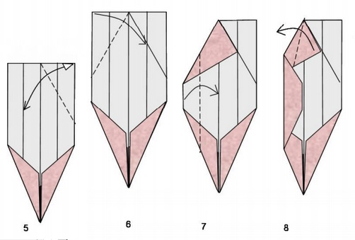 прямоугольного схемы из бумаги оригами листа
