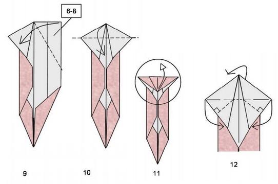 кот оригами 4