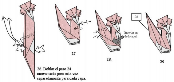 схемы листа оригами прямоугольного из бумаги