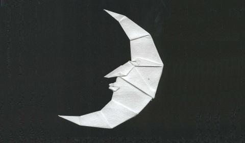 оригами луна из бумаги