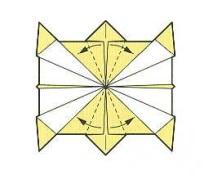 оригами солнце 19