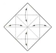 оригами солнце 3