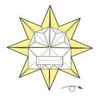оригами солнце 32