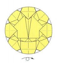 оригами солнце 40