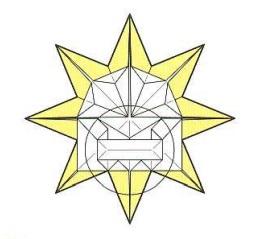 оригами солнце 41