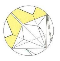 оригами солнце 50