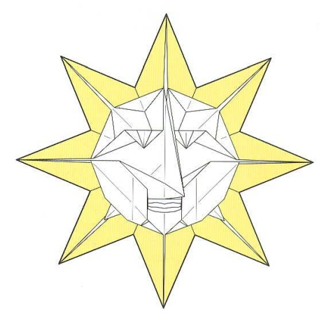 оригами солнце 52
