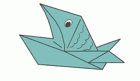 пиранья оригами фото