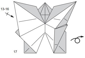 бабочка закладка 17